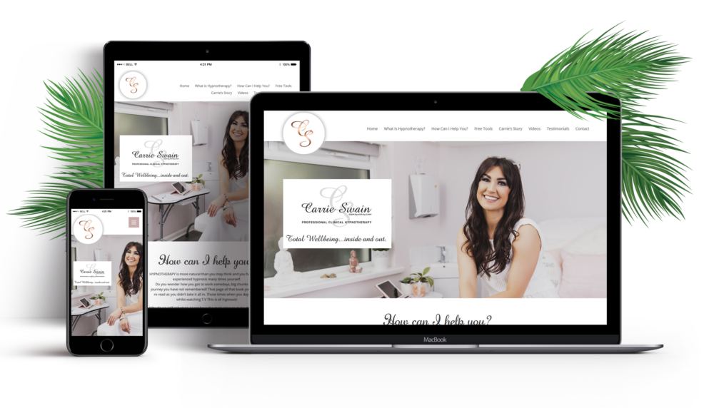 Carrie Swain Hypnotherapy Website Design