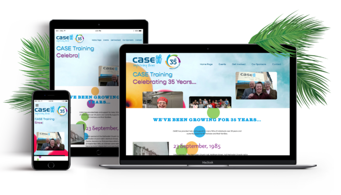 CASE Training 35 Year Anniversary Website Design