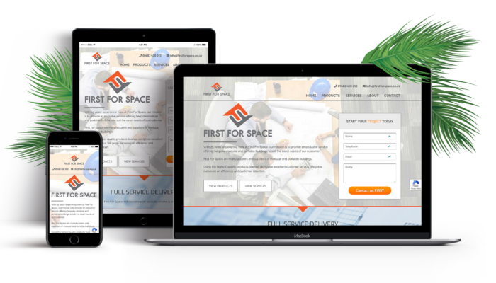 New logo and website design First For Space