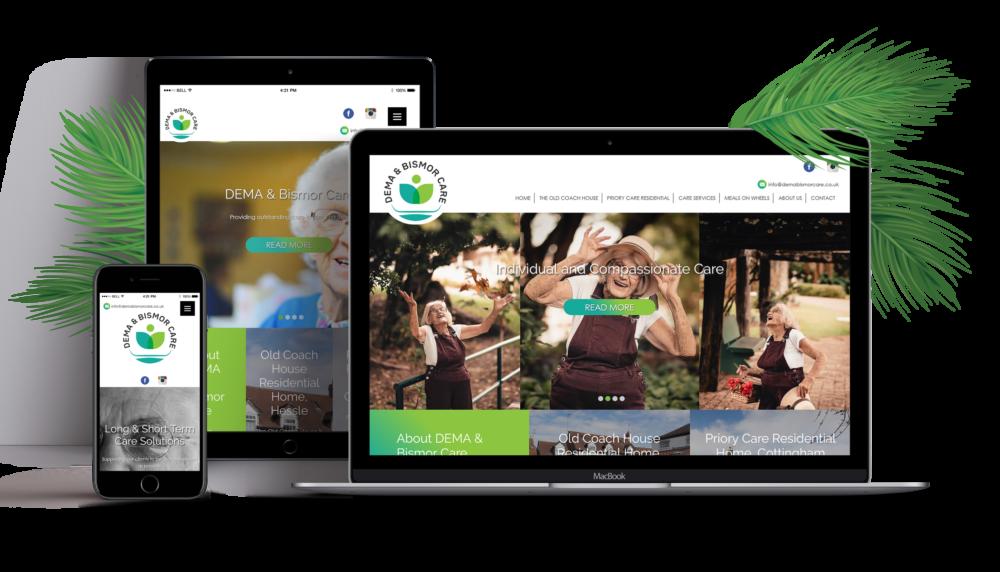 New Logo and Website Design Dema & Bismor Care