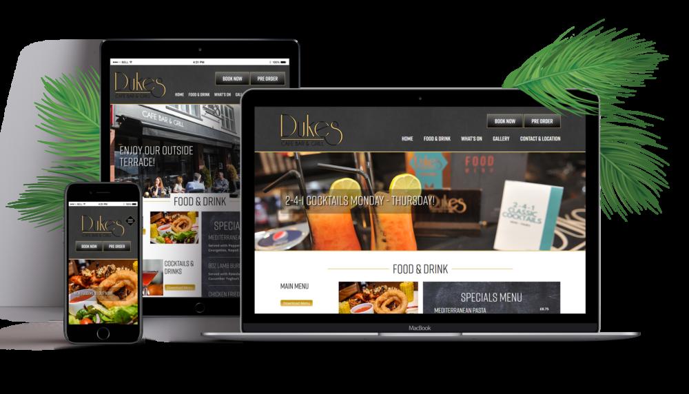Dukes Cafe Bar Website