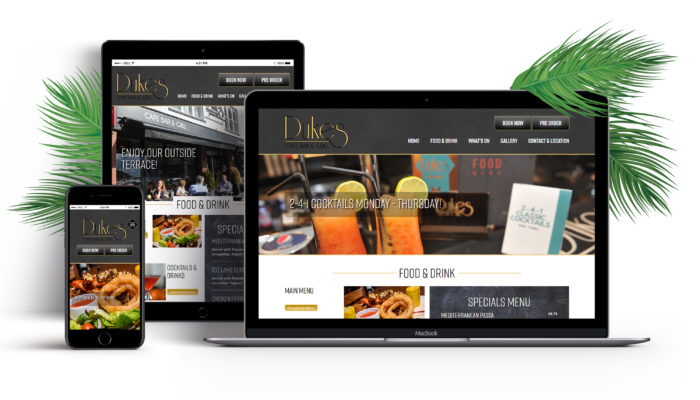 Dukes Cafe Bar Website