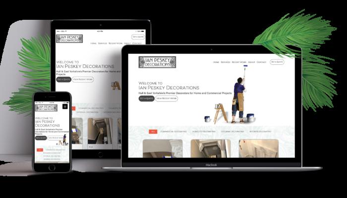 Ian Peskey Decorations Website & Logo Design